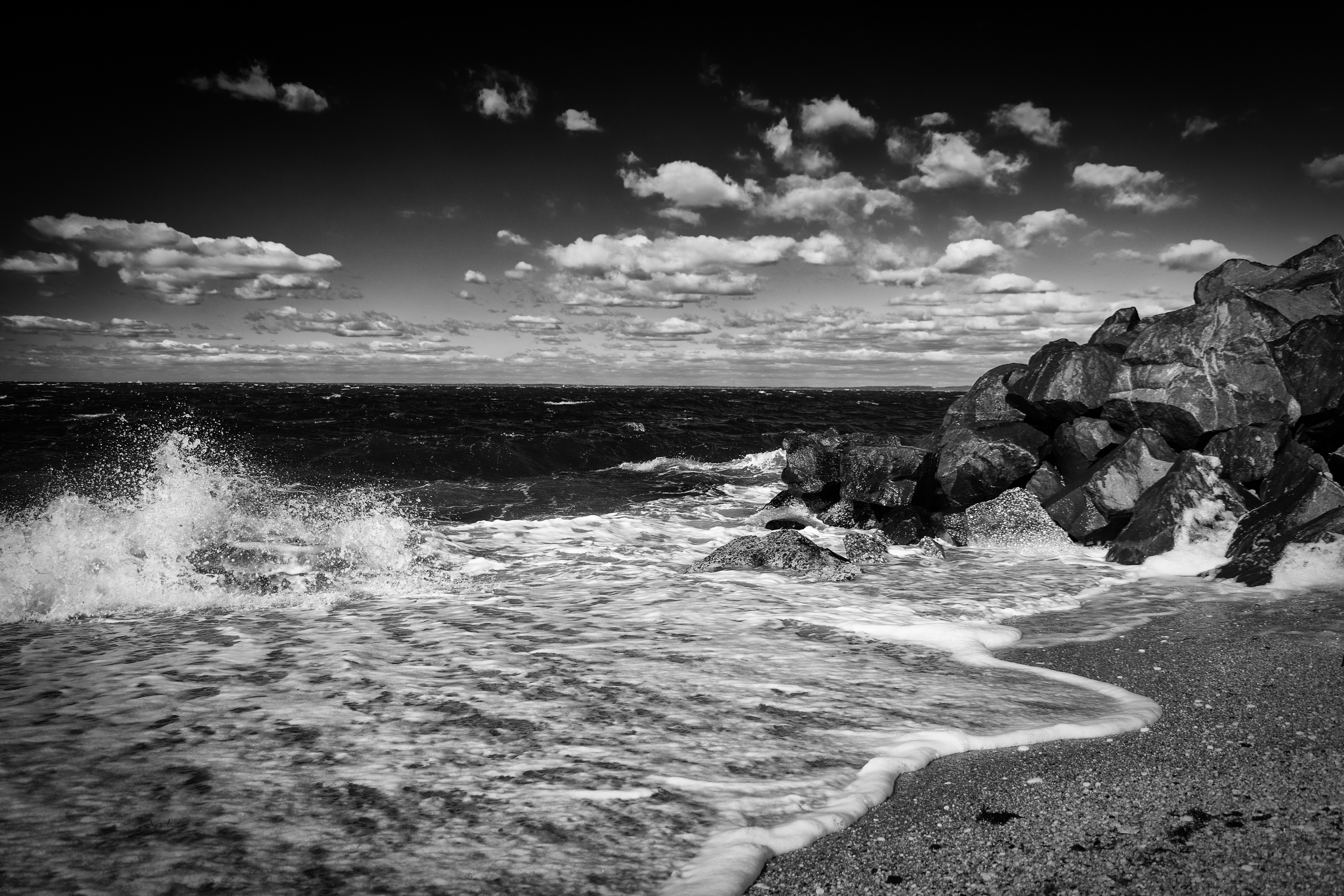Black and white beach landscapes chris langston photography